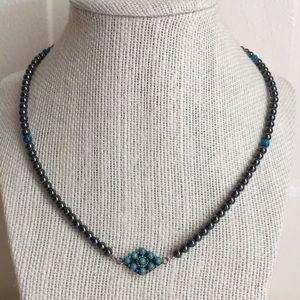 Hematite & Turquoise Necklace